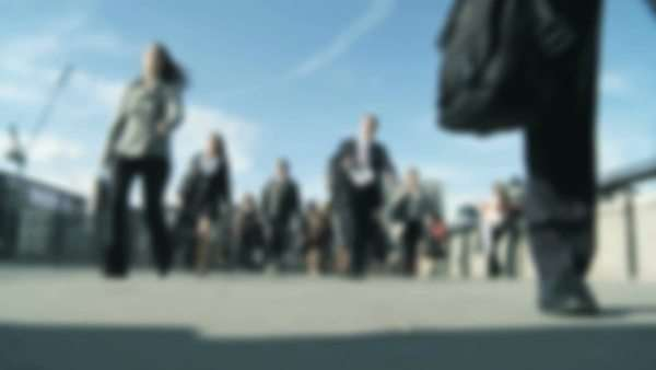 City business commuters in blurred  & slow motion Royalty-free stock video