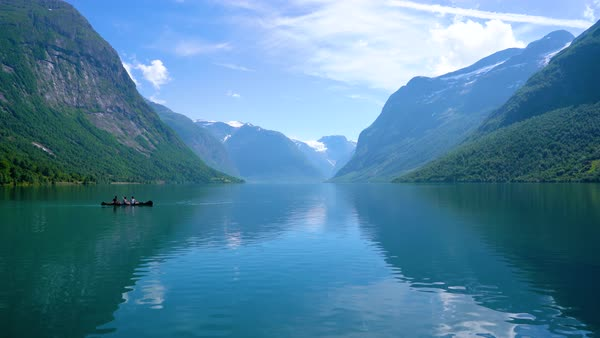 Beautiful Nature Norway Natural Landscape Lovatnet Lake