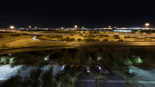 Timelapse of a highway in Phoenix. Royalty-free stock video