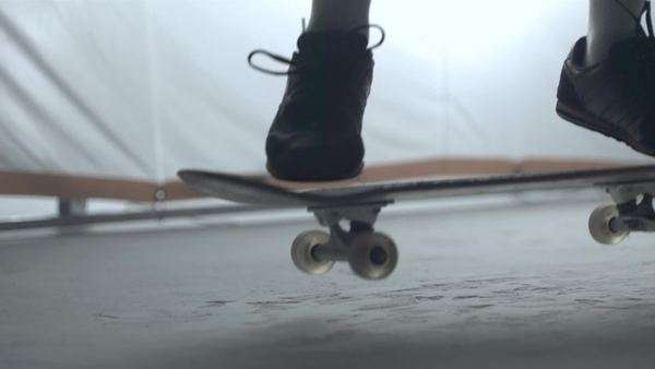Slow motion shot of skateboarder doing an ollie Royalty-free stock video
