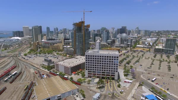 Aerial shot of downtown San Diego Royalty-free stock video