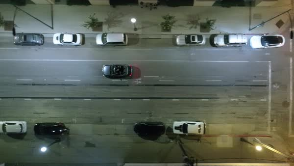 Tracking shot of a car driving on a street in San Jose Royalty-free stock video