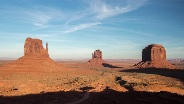 Timelapse as shadow moves across Monument Valley from day to night. Royalty-free stock video