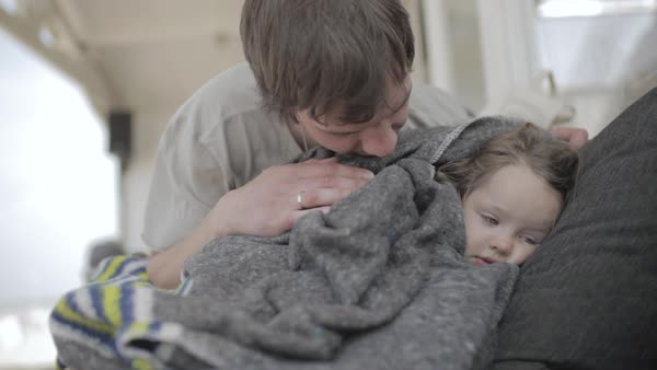 Hand-held shot of a father with his daughter Royalty-free stock video