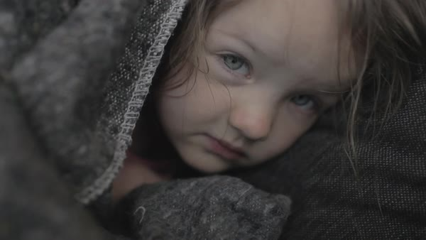 Hand-held shot of a girl resting while wrapped in a towel Royalty-free stock video