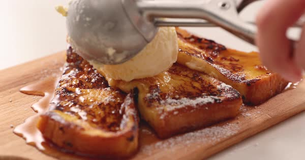 French toast Royalty-free stock video