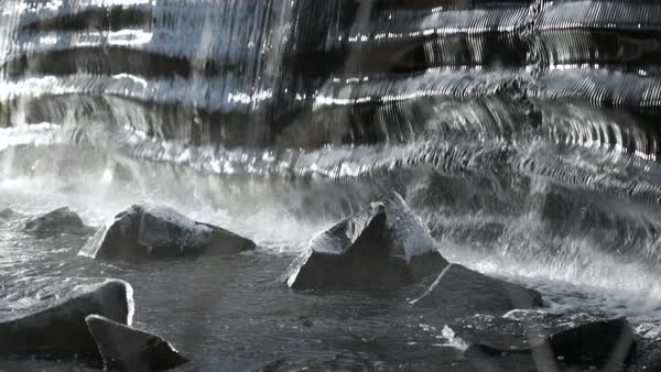 Medium shot of an icy waterfall Royalty-free stock video
