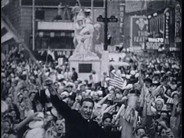 World War II victory celebrations Rights-managed stock video