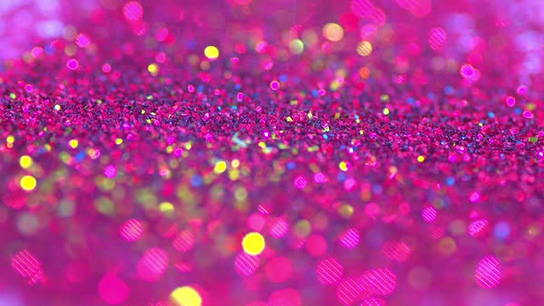 Sparkly Pink Glitter Background In Bright Colors Stock