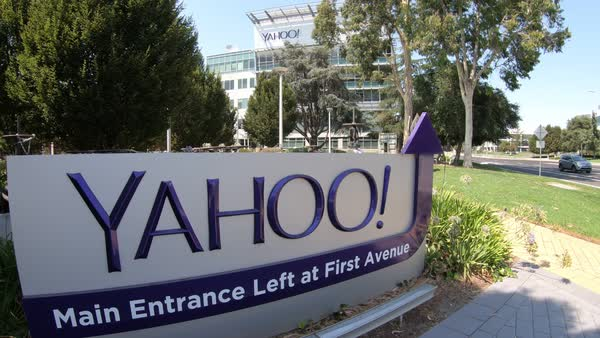 Sunnyvale, CA, United States - August 12, 2018: close up of Yahoo 701 first  avenue at Yahoo Headquarters located in Sunnyvale, Silicon Valley,