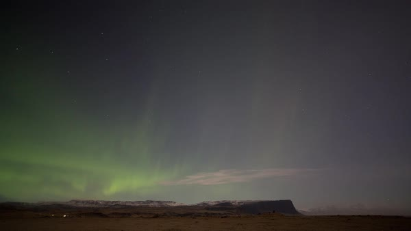 Timelapse shot of Northern Lights over Iceland Royalty-free stock video