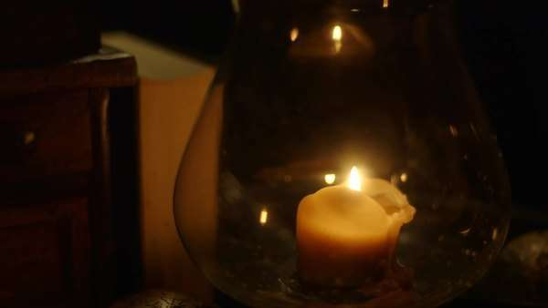 Closeup of a candle burning Royalty-free stock video