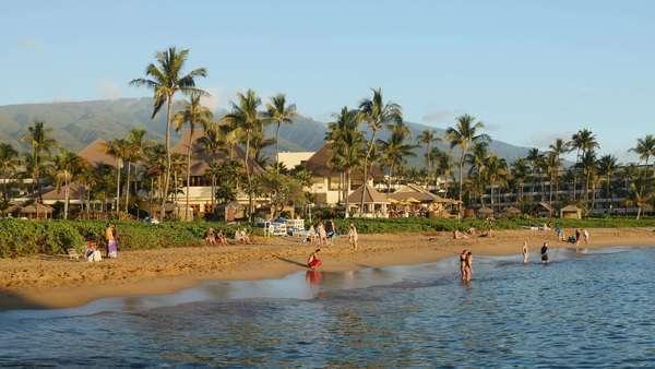 Kaanapali Beach Maui Hawaii Stock Footage