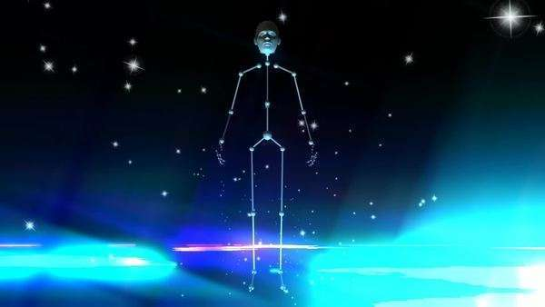 Cosmic animation of floating stars Royalty-free stock video