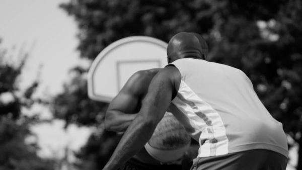 One on one street basketball Royalty-free stock video