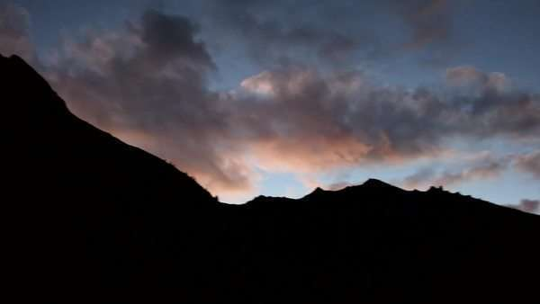 Beautiful view of the Italian Alps at twilight Royalty-free stock video