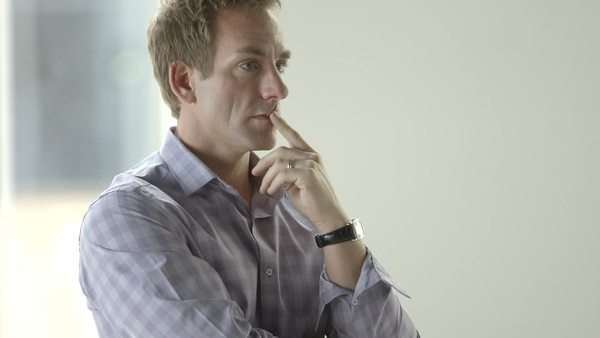 Close-up shot of businessman thinking Royalty-free stock video