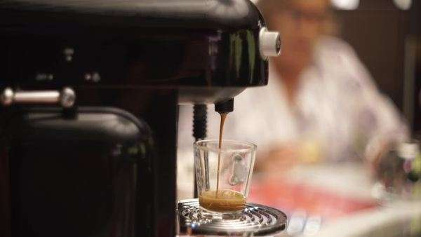 Close-up shot of coffee maker brewing coffee Royalty-free stock video