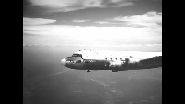 The Military Air Transport Service uses Douglas C-47 Skytrain, C-118  Liftmaster and Curtiss C-46 Commando aircraft in an airlift during the  Berlin