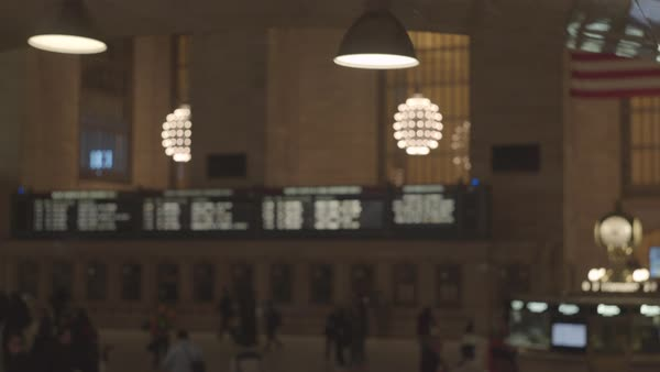 Crane shot of Grand Central Terminal interior Royalty-free stock video
