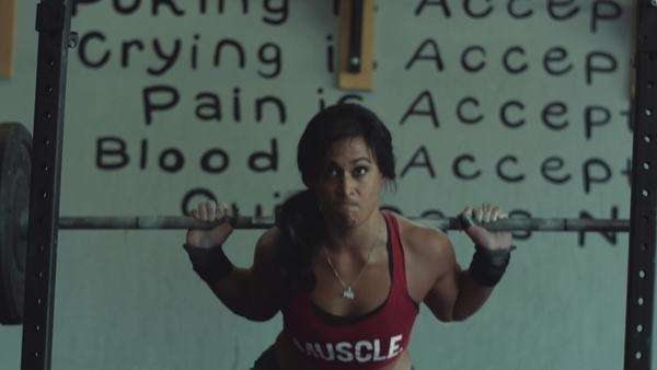 Strong woman weightlifting Royalty-free stock video