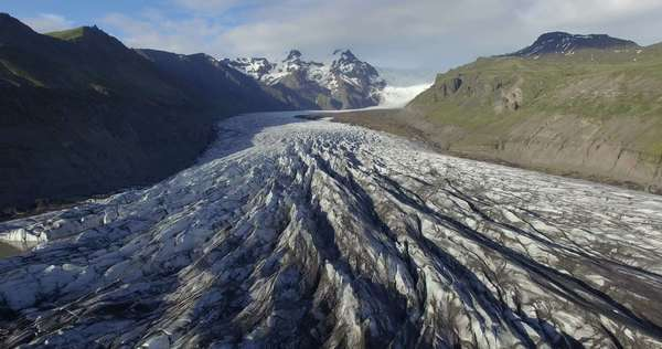 Medium shot of a glacier in Iceland Royalty-free stock video