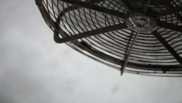 Close up shot of a fan on a train Royalty-free stock video
