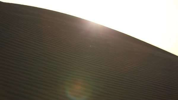 Medium shot of a dune in the desert Royalty-free stock video