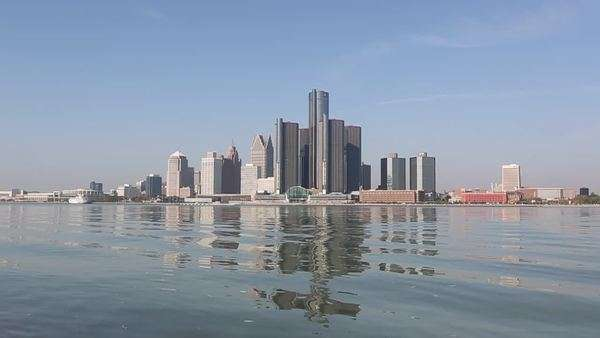 Detroit - USA - City - Landscape Royalty-free stock video