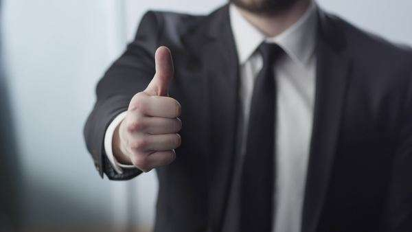Businessman thumbs up Royalty-free stock video