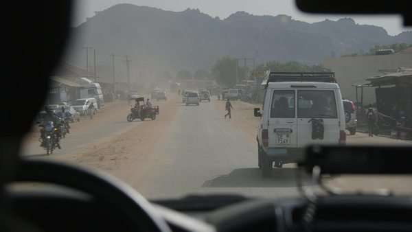 Juba, South Sudan April 2015 - the streets of Juba stock footage