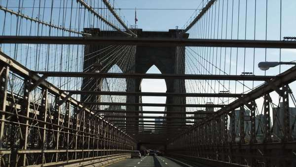 POV Driving on Brooklyn Bridge, New York City, New York Royalty-free stock video