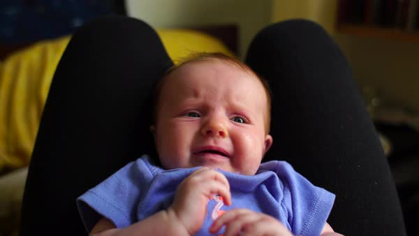 Close up shot of a crying baby girl Rights-managed stock video