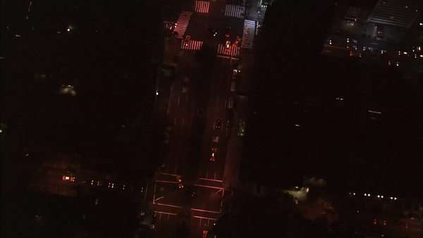 Aerial shots of New York City at night. Royalty-free stock video