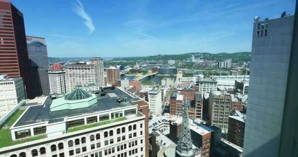PITTSBURGH, PA - A high-level Pittsburgh establishing shot. Royalty-free stock video
