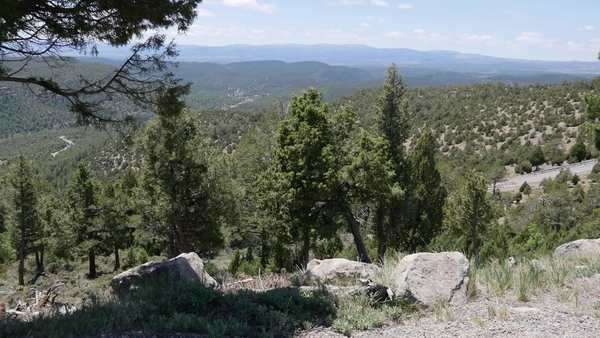 A view in the Sierra de Gudar with rocks and a pine branch in the foreground. Royalty-free stock video