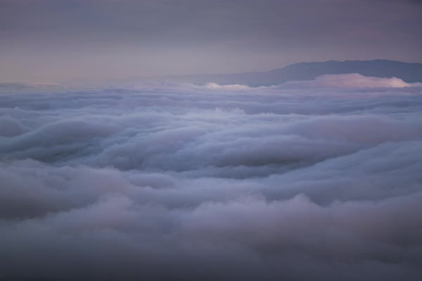 Above San Francisco fog timelapse Rights-managed stock video