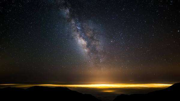 Galactic Core Milky Way California Timelapse Rights-managed stock video