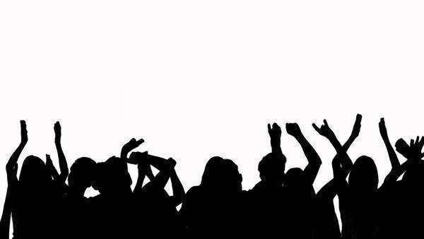 crowd silhouette cheering stock video footage dissolve clip art photographs clip art photography images