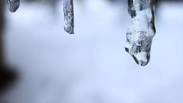 Icicles melting and dripping Royalty-free stock video