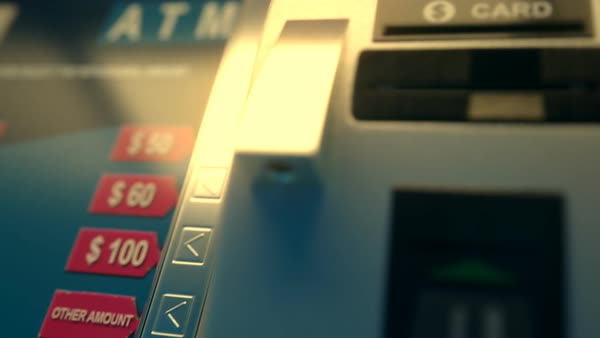 Close-up Of Atm Card Coming Out Of A Machine Royalty-free stock video