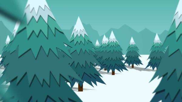 Christmas Trees On Snow Landscape In Winter Royalty-free stock video