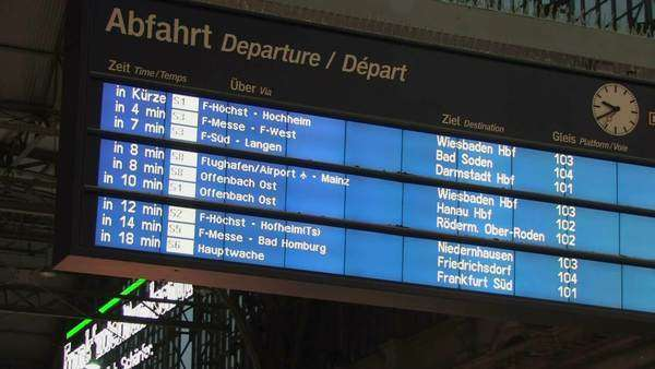 Frankfurt train station, interior Royalty-free stock video
