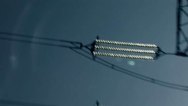 Electricity pylon, hand-held action Royalty-free stock video