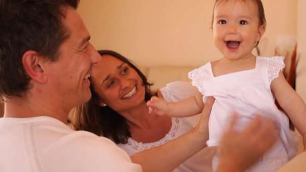 Family and baby Royalty-free stock video
