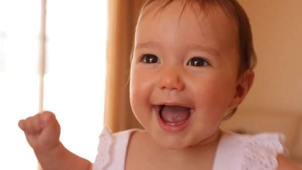 Baby laughing Royalty-free stock video