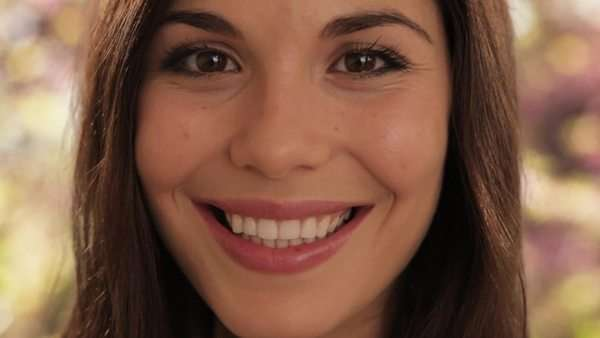 young woman smiling at camera Royalty-free stock video