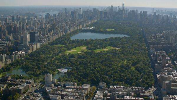 Aerial shot of Central Park, New York City Royalty-free stock video