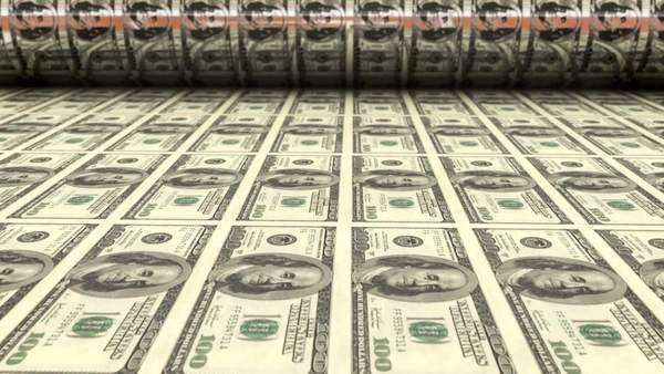 Printing one hundred dollar bills Royalty-free stock video