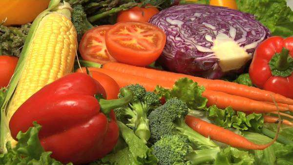 Fresh vegetables Royalty-free stock video